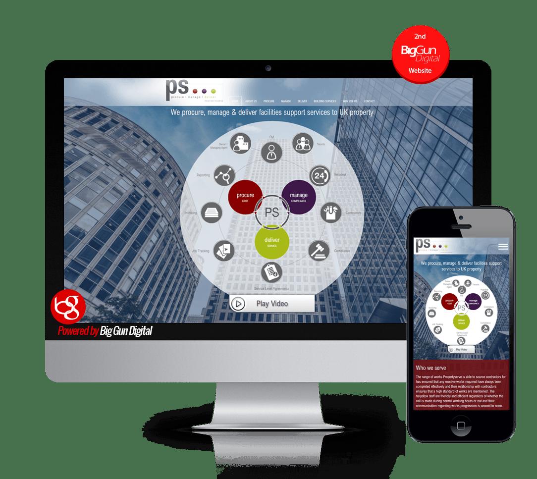 Property Management Software Website Design + Logo Design